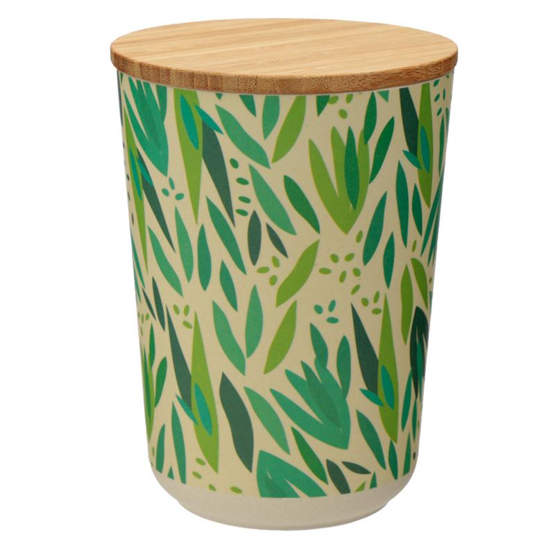 Medium Bamboo Composite Storage Jar Willow