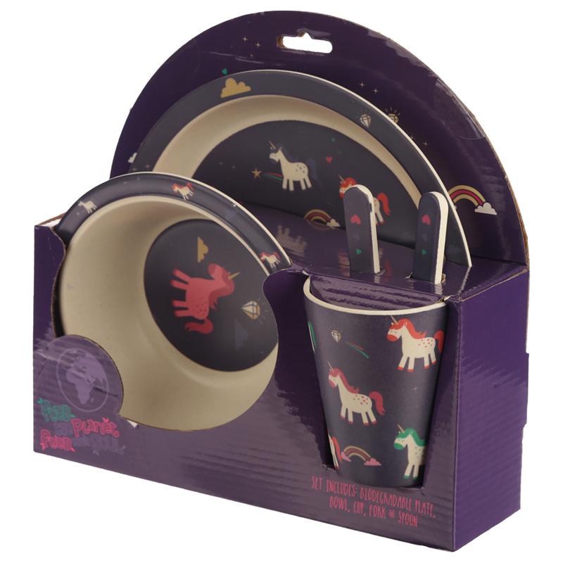 Bamboo Composite Unicorn Kids Dinner Set