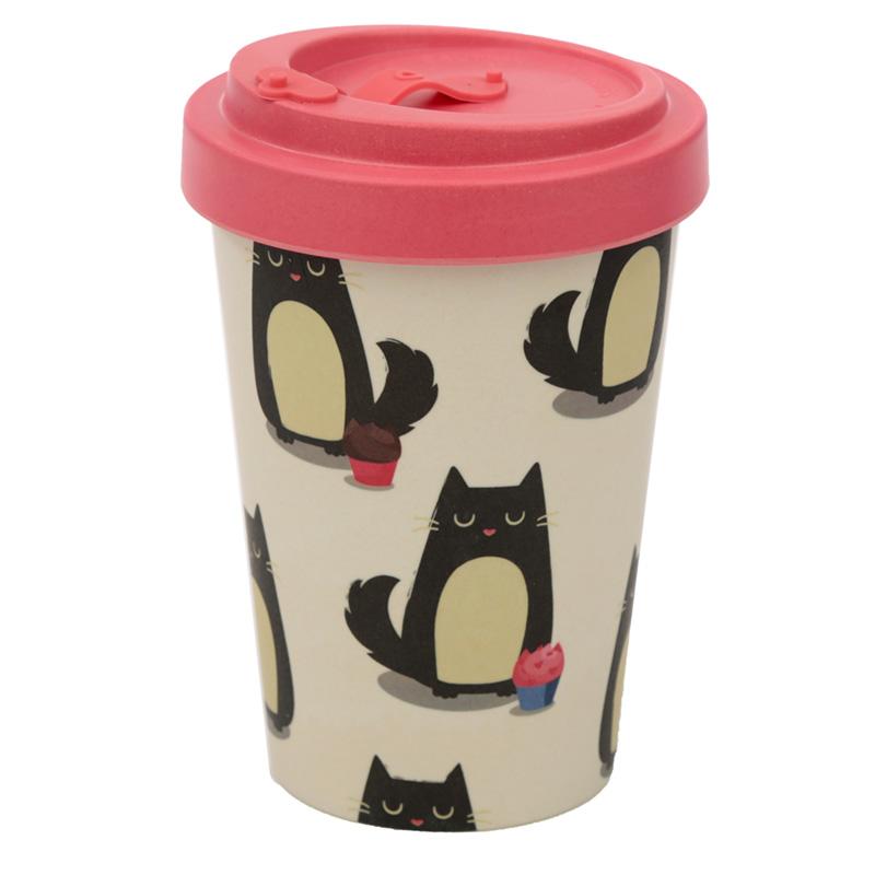 Bamboo Composite Feline Fine Cat Travel Mug