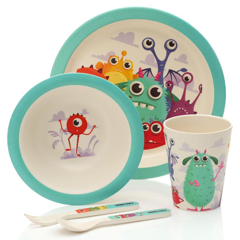 Bamboo Composite Monsters Kids Dinner Set