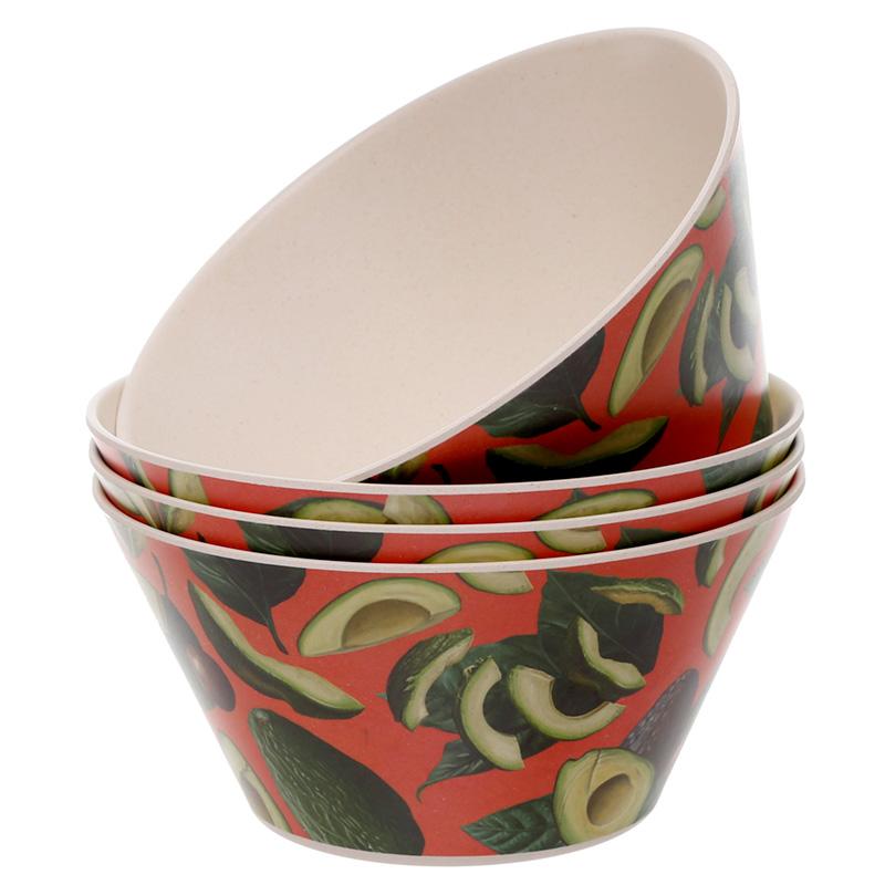 Bamboo Composite Avocado Set of 4 Bowls