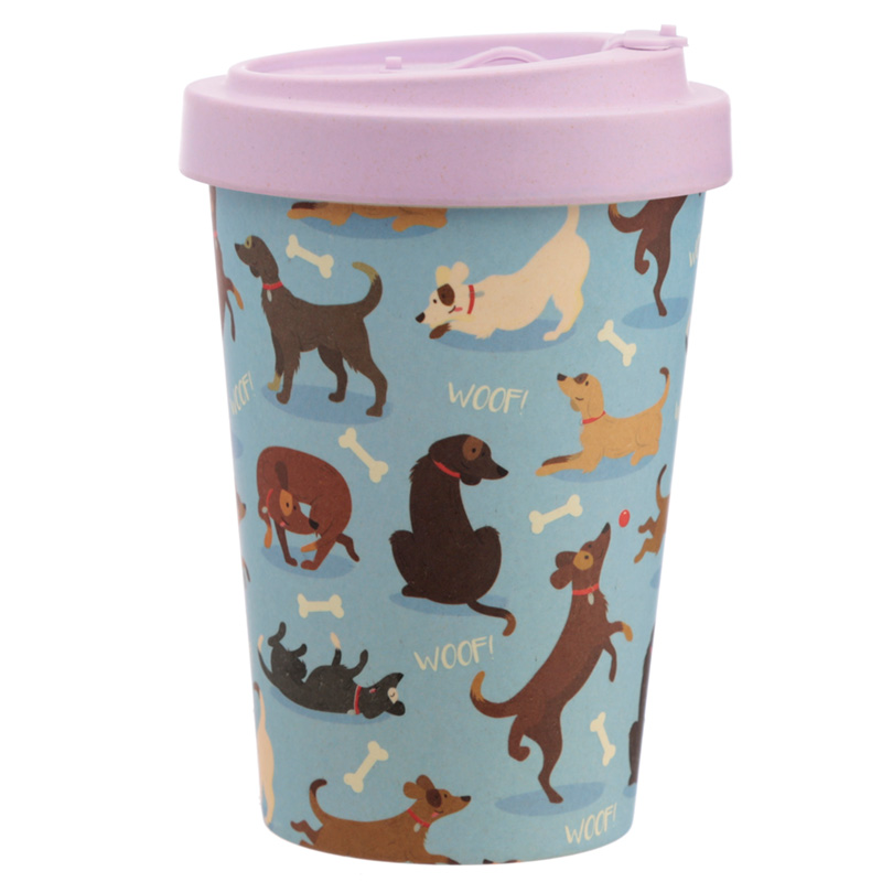 Bamboo Composite Catch Patch Dog Screw Top Travel Mug