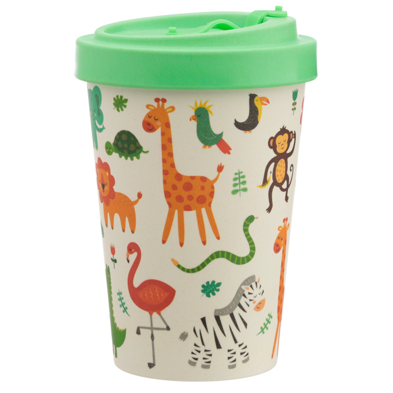 Bamboo Composite Zooniverse Screw Top Travel Mug