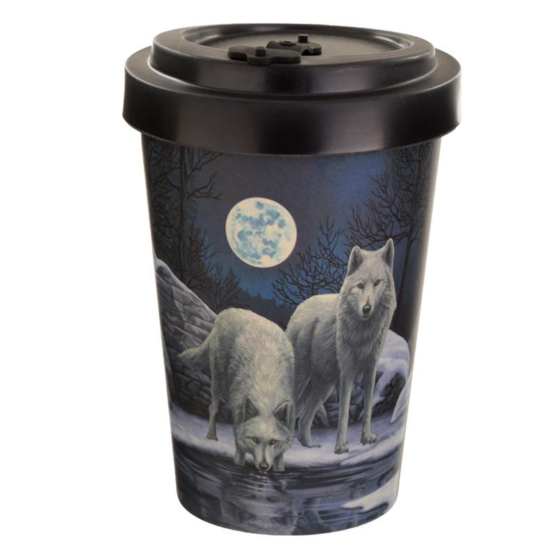 Bamboo Composite Warriors of Winter Lisa Parker Wolf Travel Mug