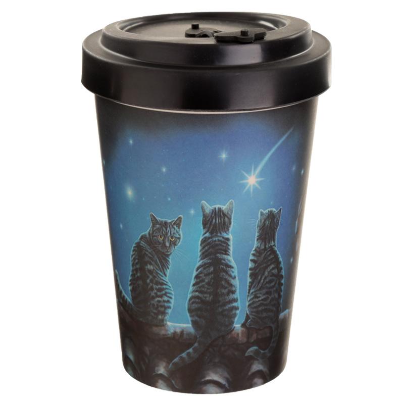 Bamboo Composite Wish Upon a Star Lisa Parker Cat Travel Mug