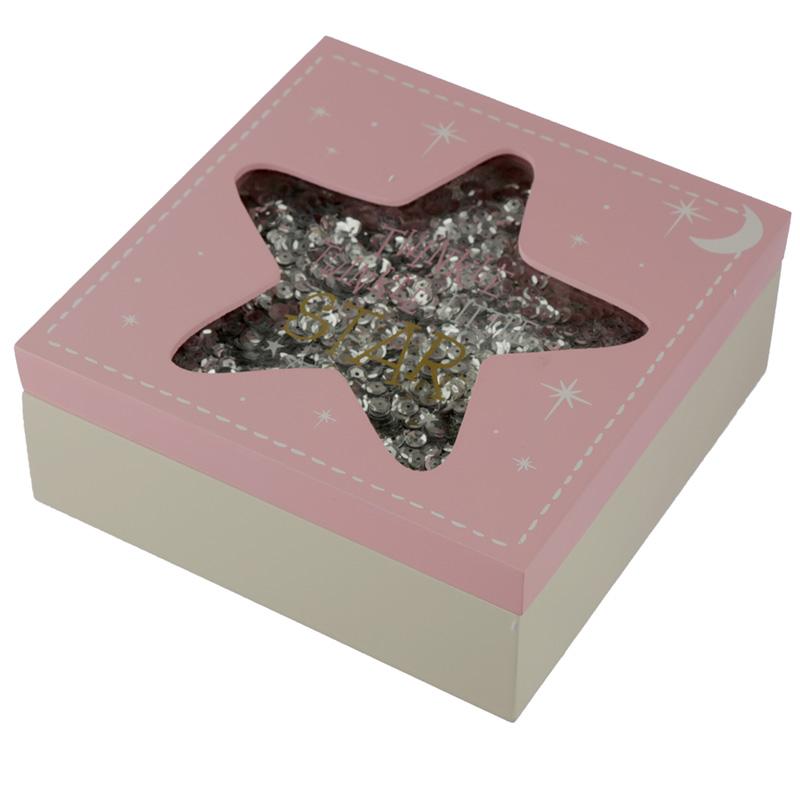 Baby Girl Keepsake Box Twinkle Twinkle Star