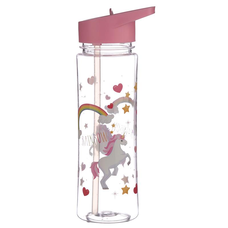 Reusable Unicorn Rainbow 550ml Bottle