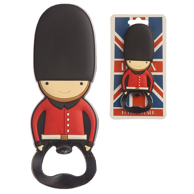 Novelty PVC Bottle Opener London Guardsman