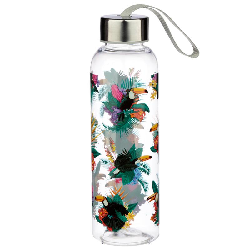 Toucan Party Design 500ml Bottle with Metallic Lid