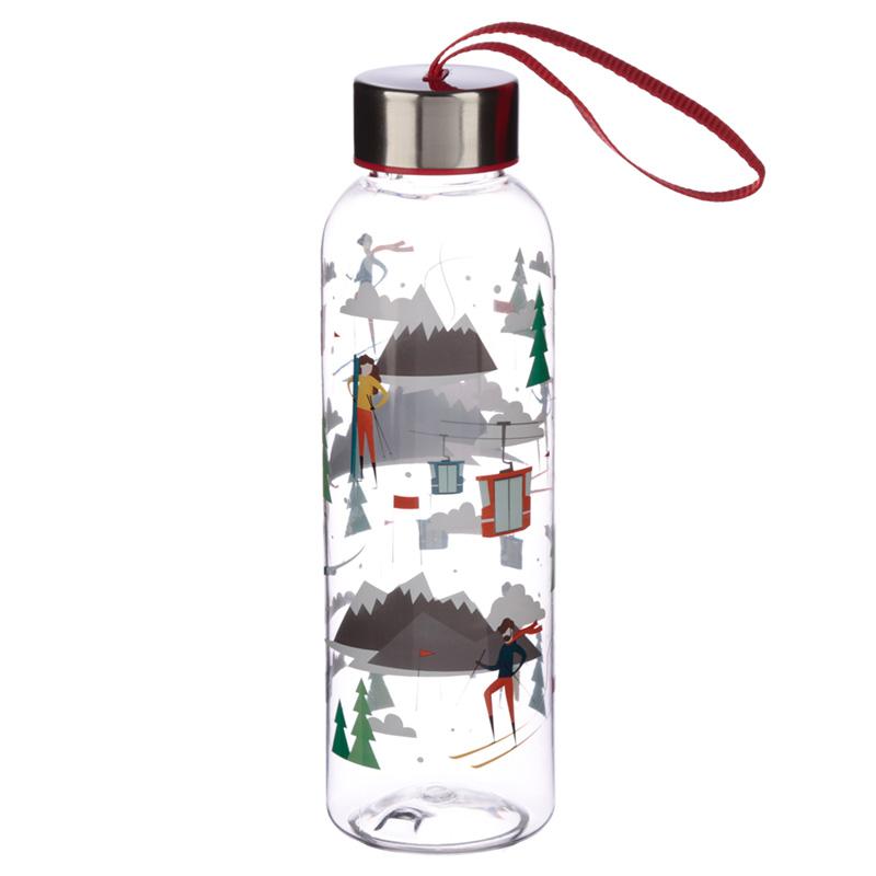 Fun Ski Design 500ml Bottle with Metallic Lid