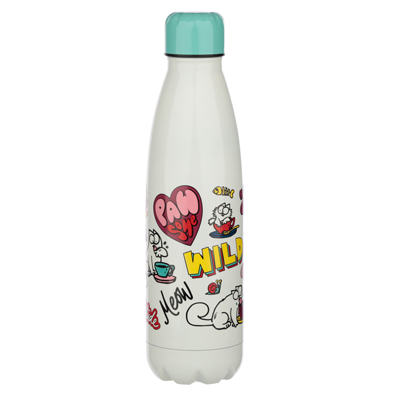 Simons Cat Pawsome Stainless Steel Insulated Drinks Bottle