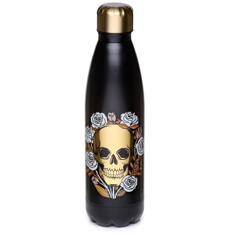 Skulls  Roses Stainless Steel Insulated Drinks Bottle