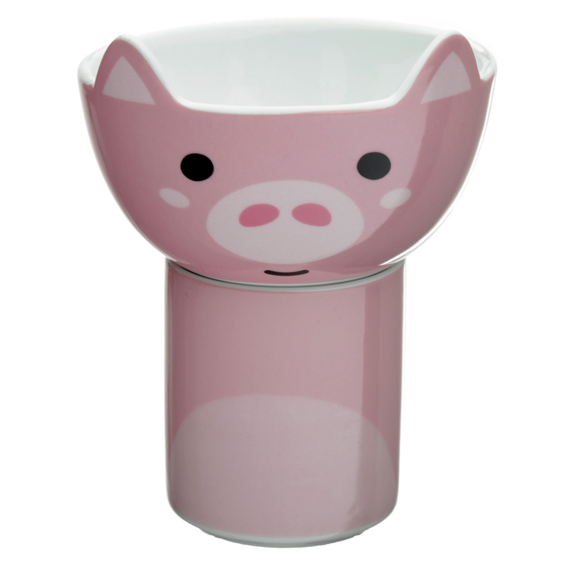 Childrens Porcelain Mug and Bowl Set Cutiemals Pig