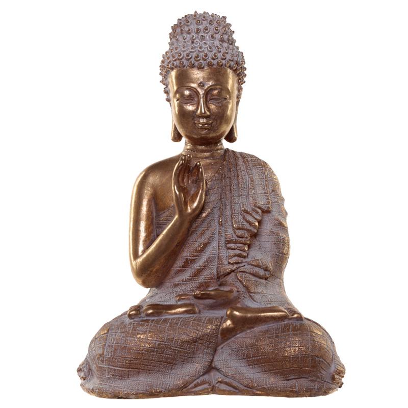Thai Buddha Figurine Gold and White Serenity