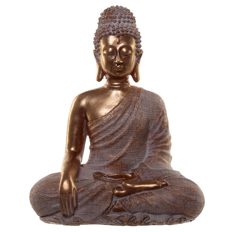 Thai Buddha Figurine Gold and White Peace