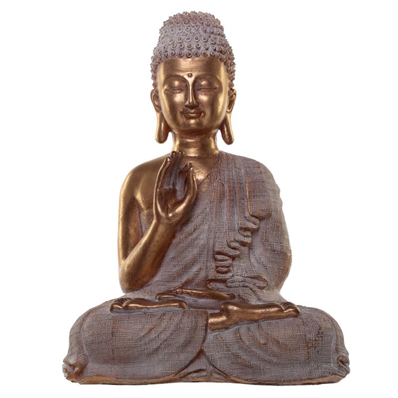 Thai Buddha Figurine Gold and White Spiritual