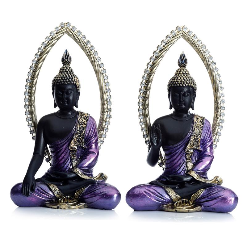 Decorative Gold and Black Buddha Meditating