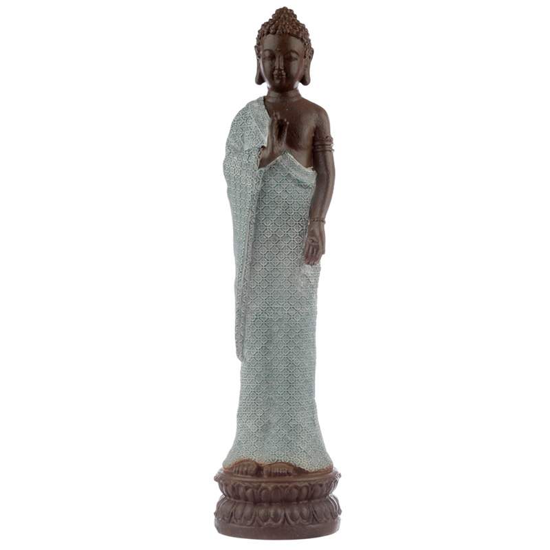 Decorative Turquoise  Brown Buddha Figurine Serenity