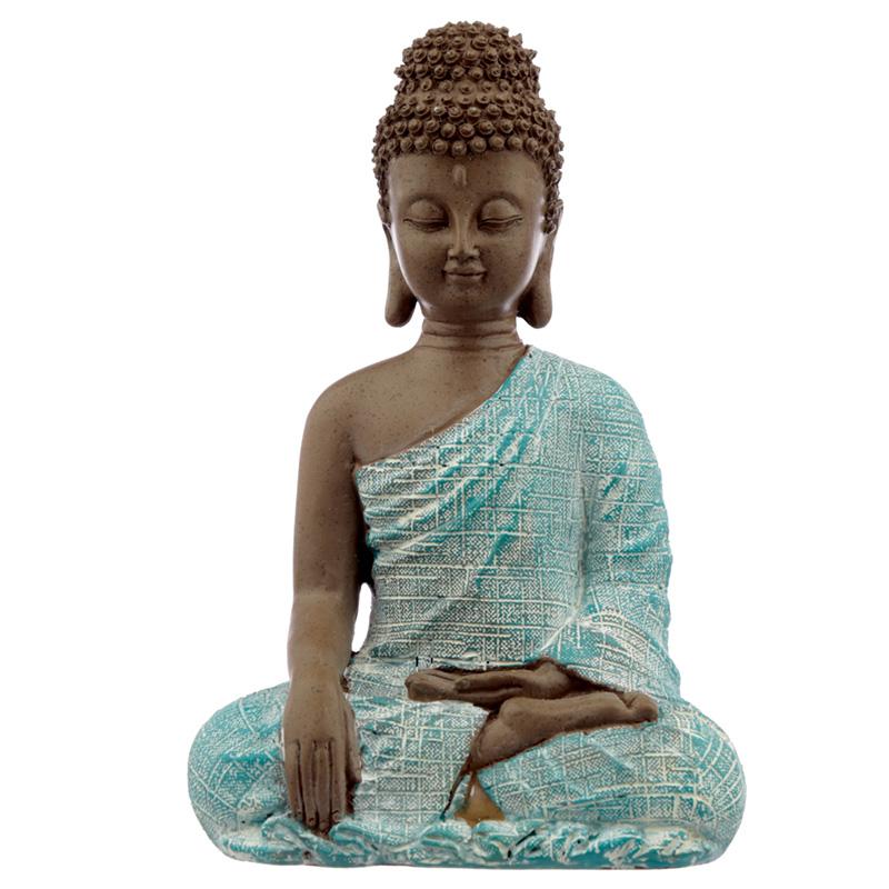 Decorative Turquoise  Brown Buddha Figurine Peace