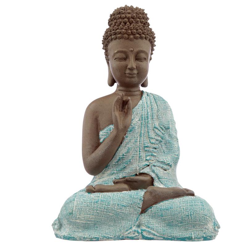 Decorative Turquoise  Brown Buddha Figurine Meditation