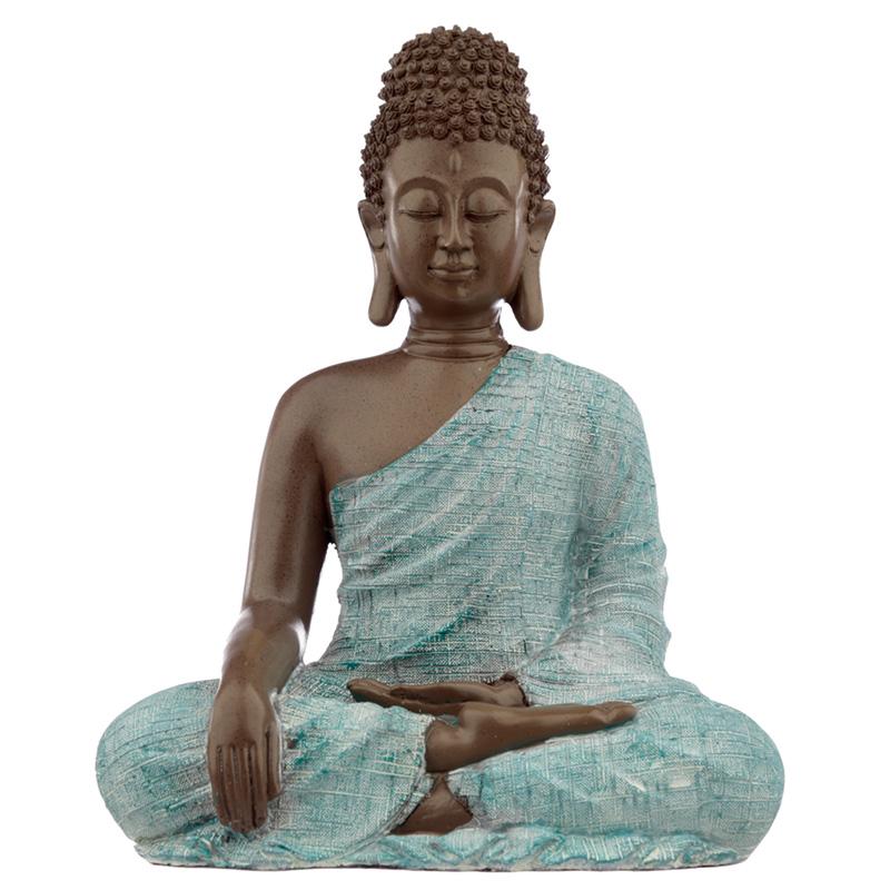 Decorative Turquoise  Brown Buddha Figurine Love