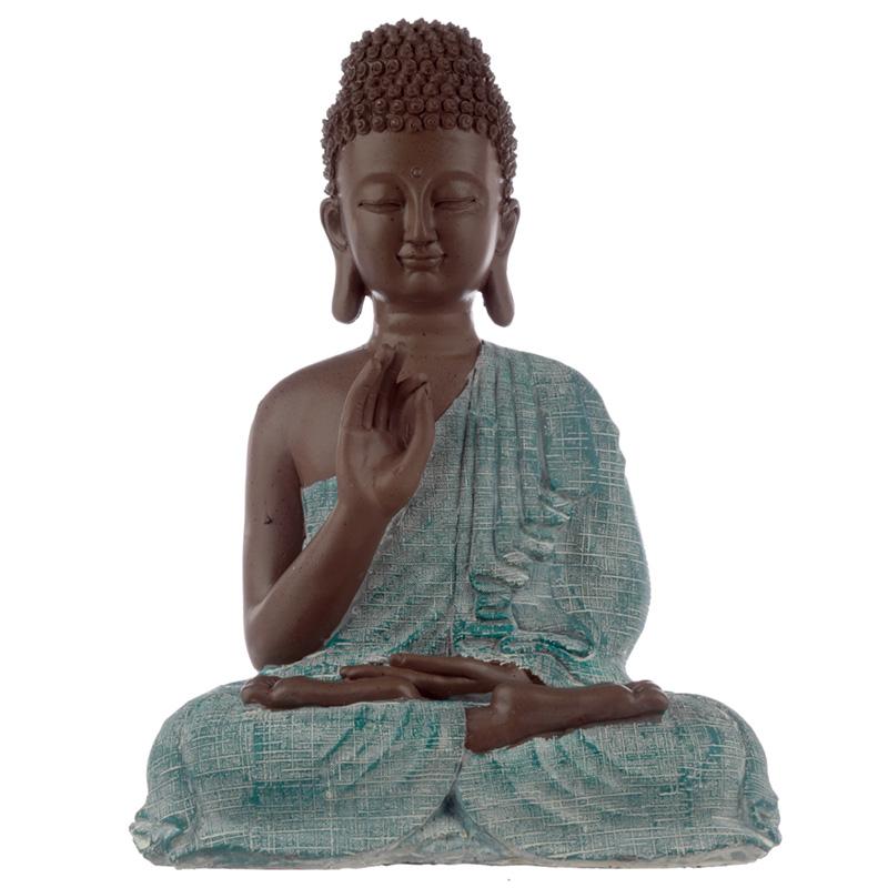 Decorative Turquoise  Brown Buddha Figurine Enlightenment