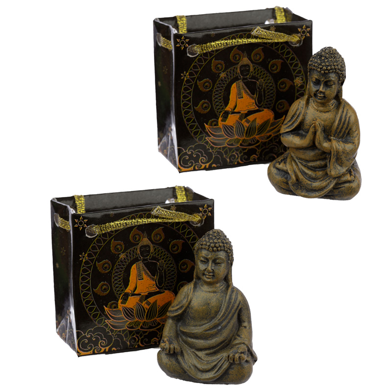 Mini Thai Buddha Figurine in a Gift Bag