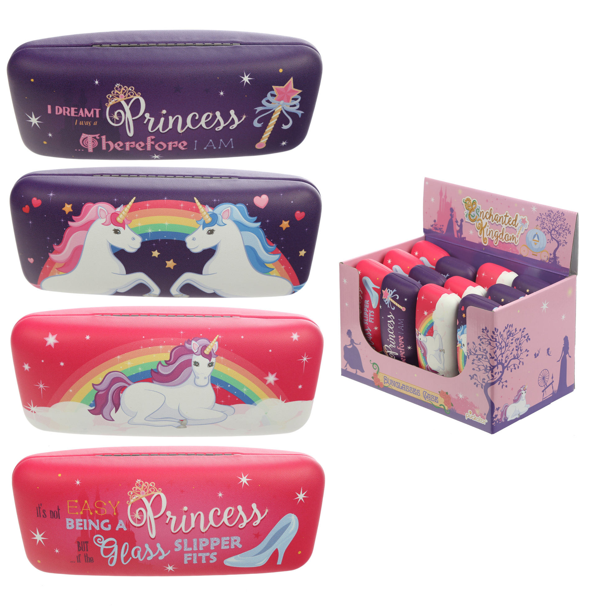 Fun Princess and Unicorn Sunglasses Case