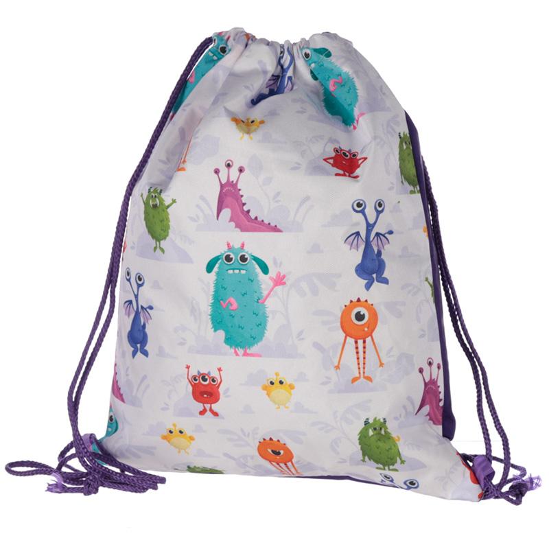 Handy Drawstring Bag Fun Kids Monsters Design