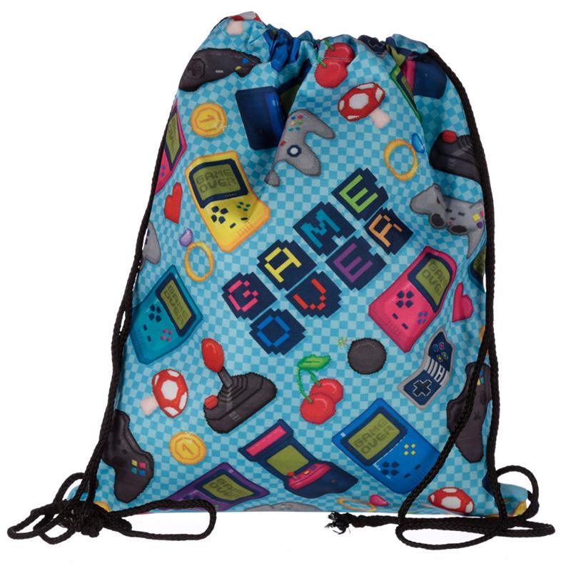 Handy Drawstring Bag Fun Gaming Design