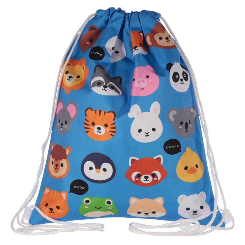 Handy Drawstring Bag Fun Cute Animals Design