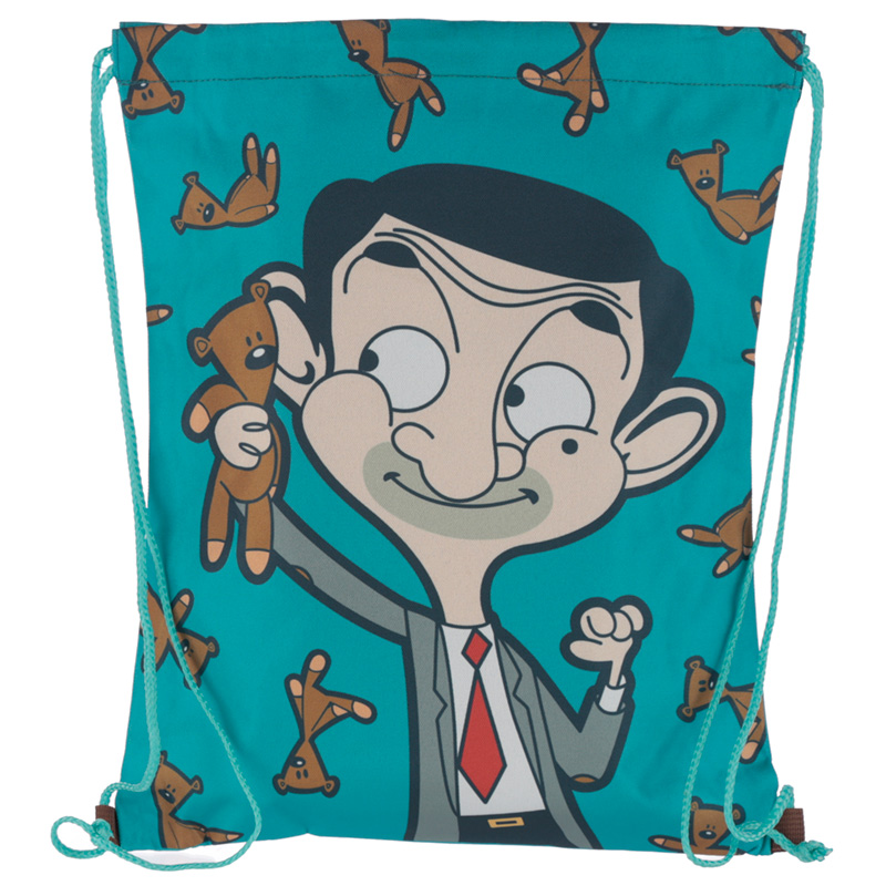 Handy Drawstring Bag Mr Bean Teddy