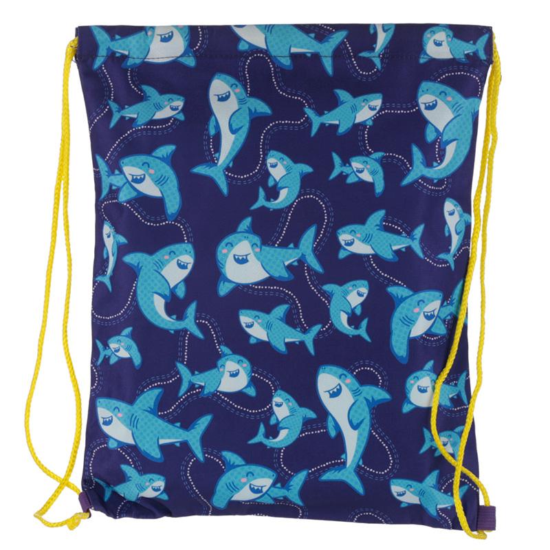 Handy Drawstring Bag Shark Cafe