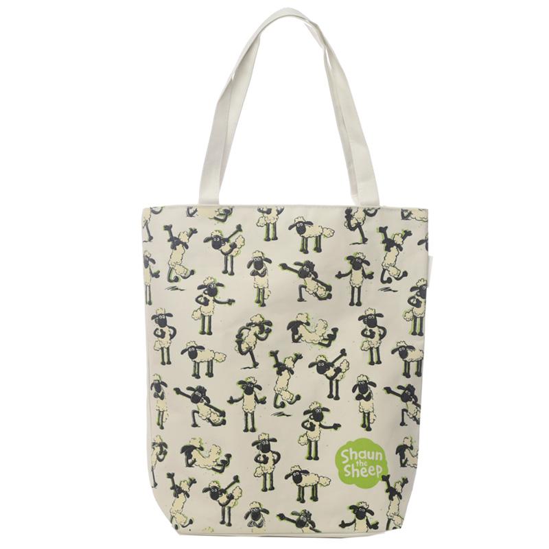Handy Cotton Zip Up Shopping Bag Shaun the Sheep