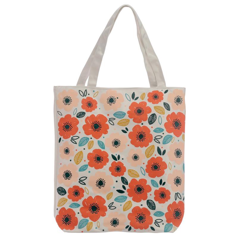 Handy Cotton Zip Up Shopping Bag Poppy Fields
