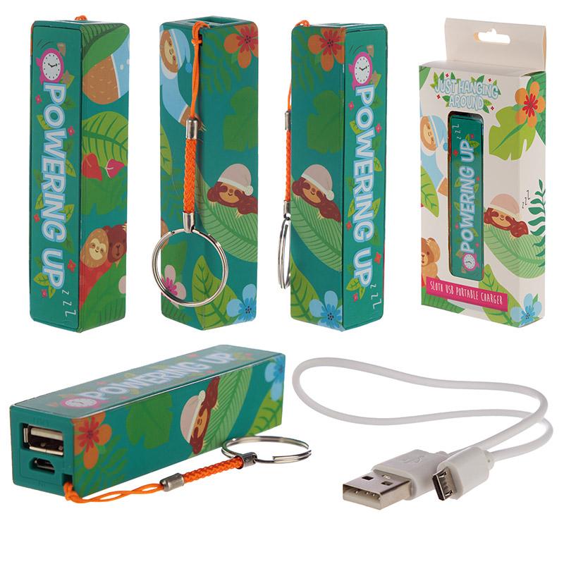 Handy Portable USB Power Bank Sloth Design
