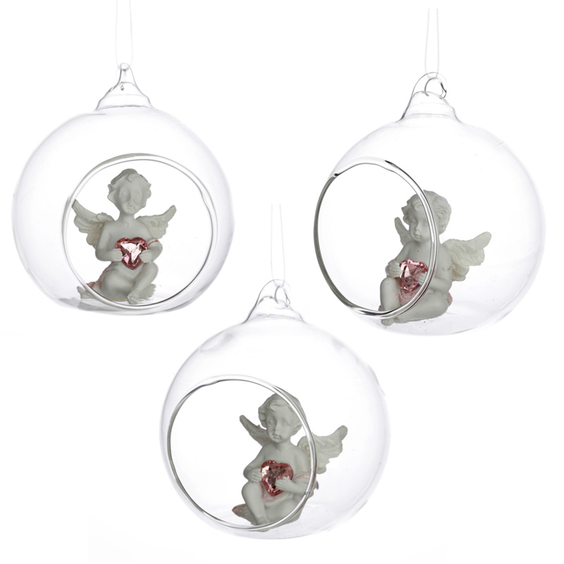 Collectable Peace of Heaven Cherub Sweet Dream Glass Bauble
