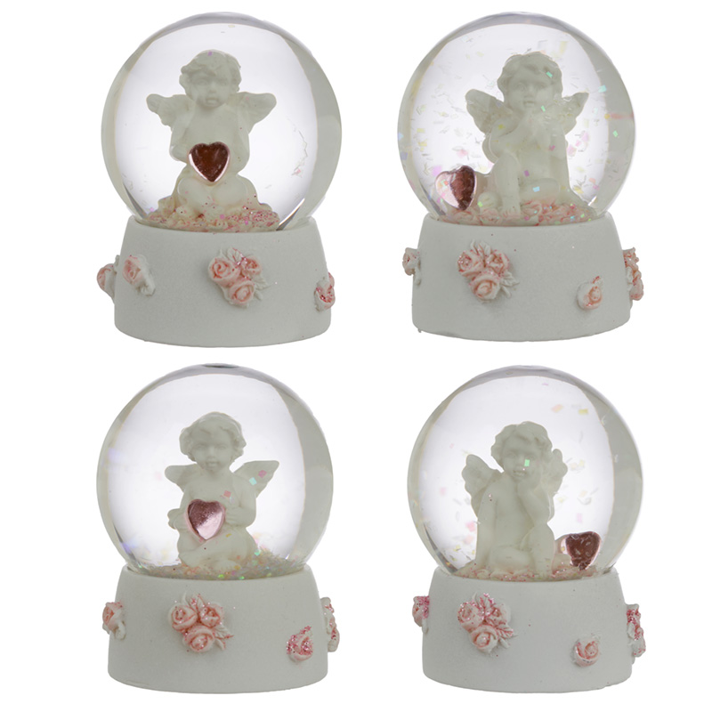 Collectable Peace of Heaven Cherub Sweet Dreams Snow Globe