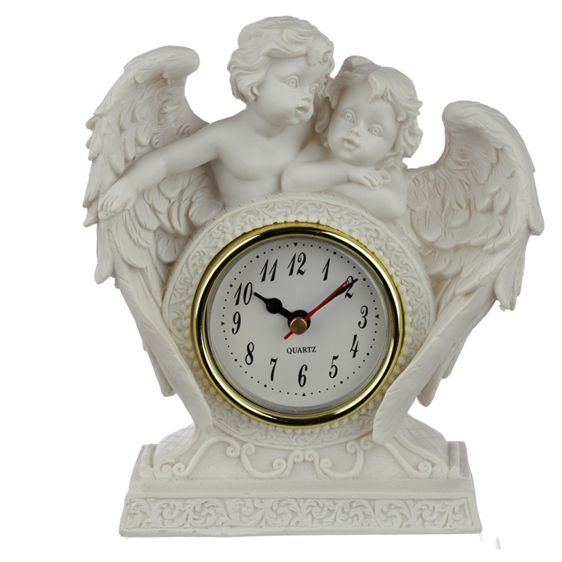 Collectable Peace of Heaven Cherub Endless Love Mantle Clock