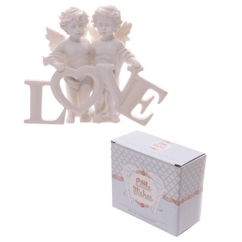 Cute LOVE Letters Cherub Couple