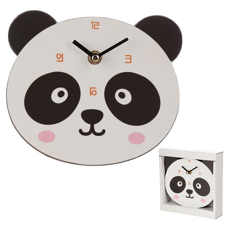 Cute Panda Shaped Wall Clock
