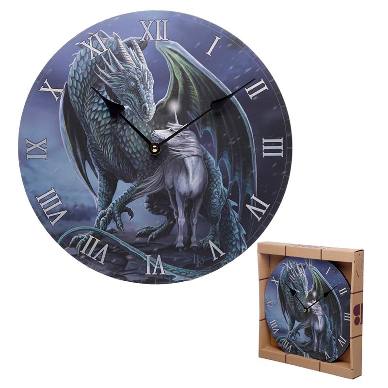 Dragon  Unicorn Protector Magick Lisa Parker Wall Clock