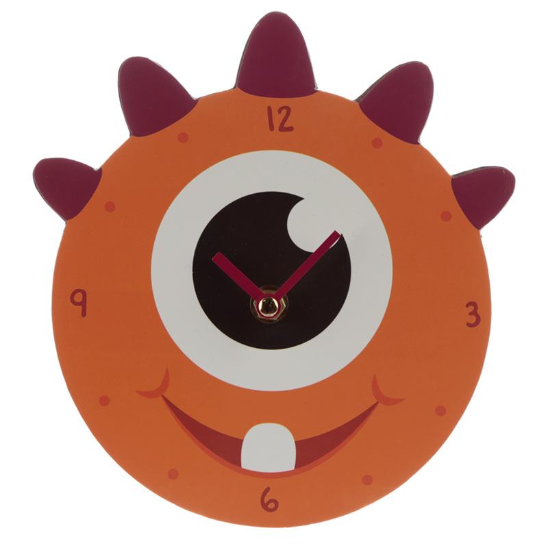 Decorative Monster Monstarz Orange Wall Clock