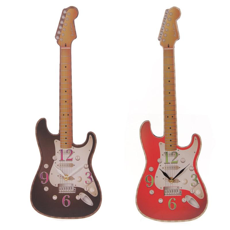 Fun Novelty Rock Guitar Shaped Wall Clock