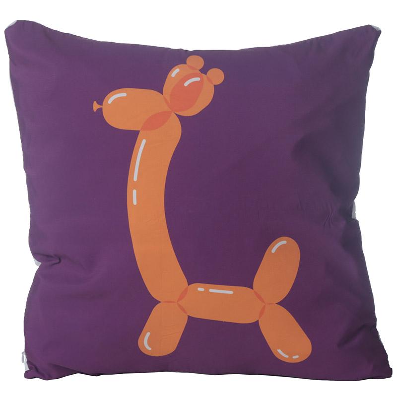 Decorative Cushion with Insert Fun Balloon Animal Giraffe