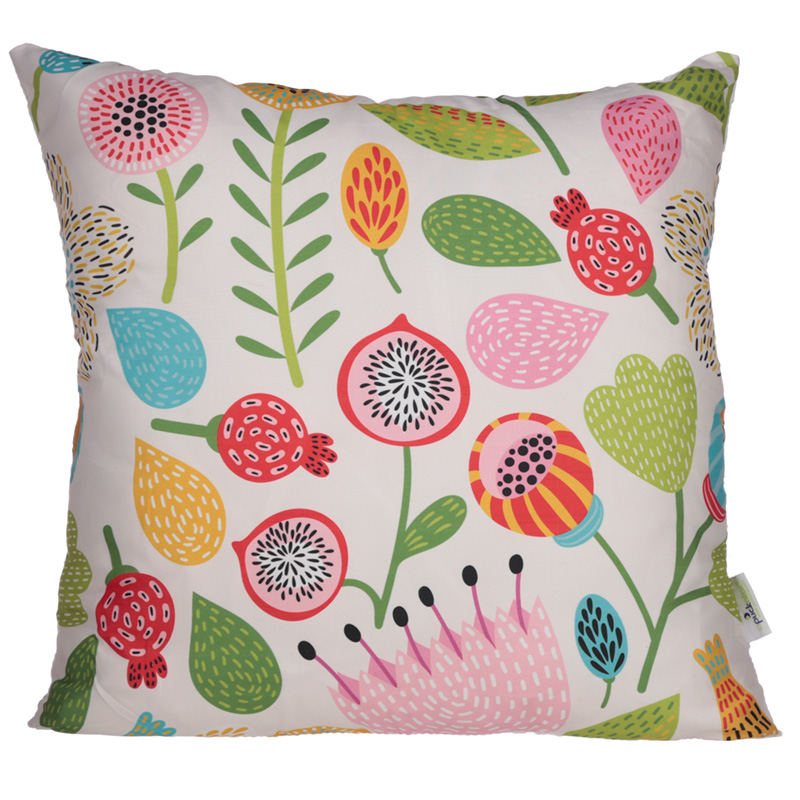 Cushion with Insert Autumn Floral Design 50 x 50cm