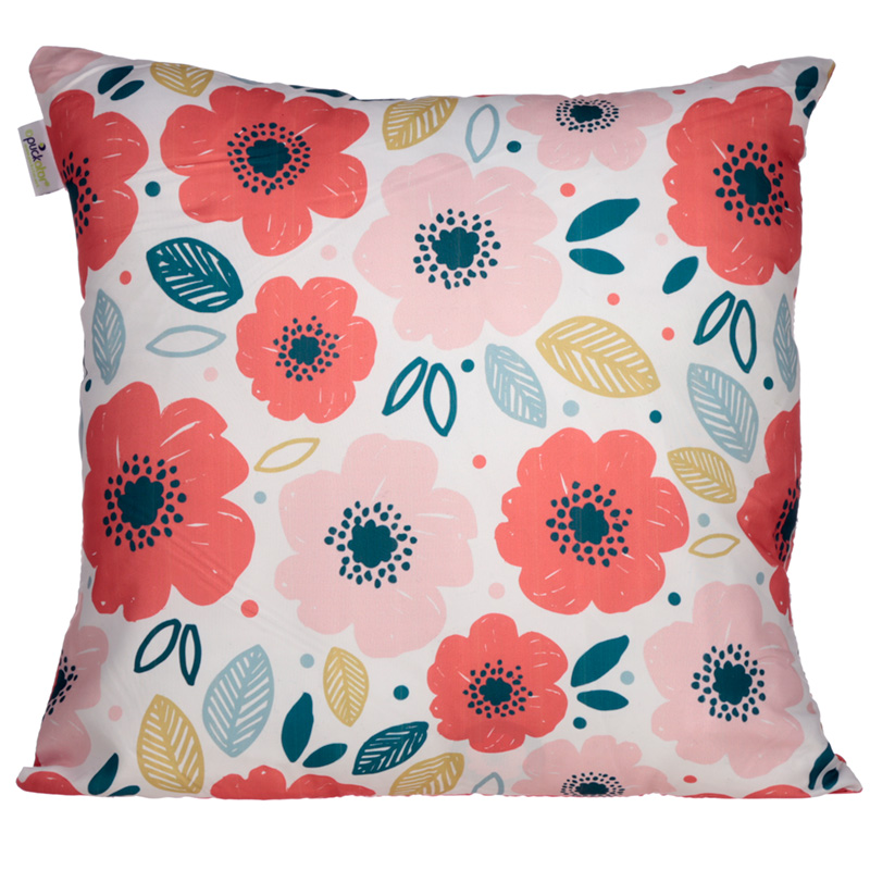 Cushion with Insert Poppies Design 50 x 50cm