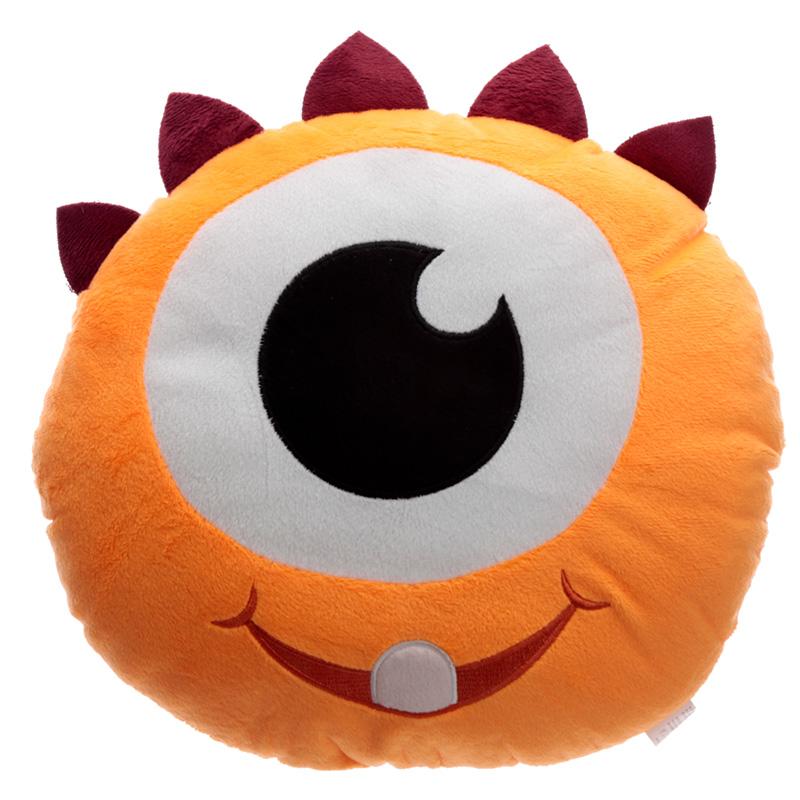 Fun Orange Plush Monstarz Monster Cushion