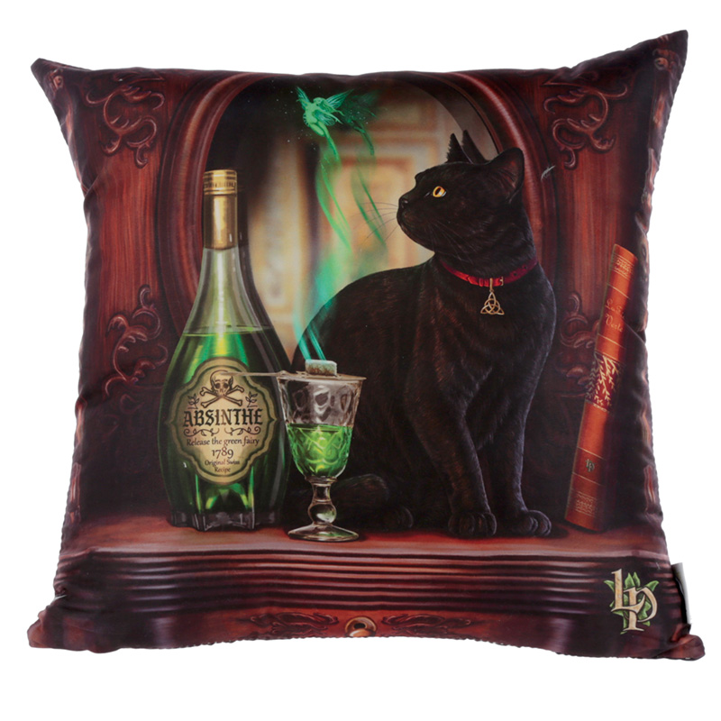 Cushion with Insert Lisa Parker Absinthe Cat