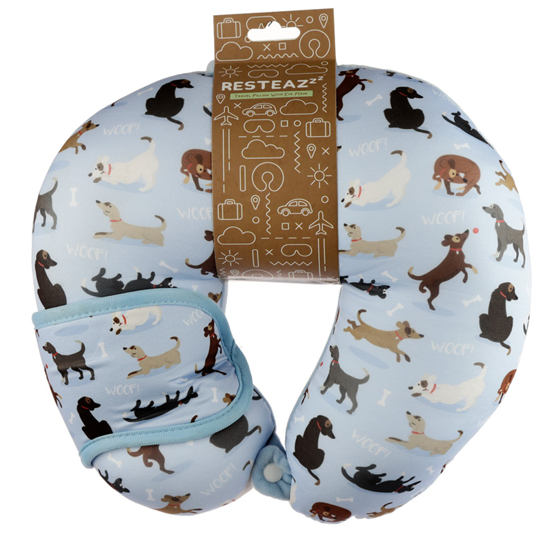 Catch Patch Dog Relaxeazzz Travel Pillow  Eye Mask Set